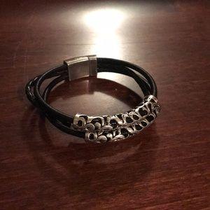 Jewelry - Black and Silver 3 strand metal bracelet